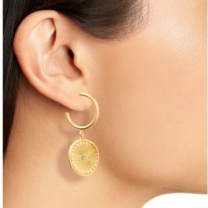 2 For 38⚡️Madewell Oversized Coin Charm Hoop Earri